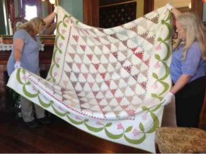 1840's Feathered Triangle Quilt at La Conner Quilt Museum