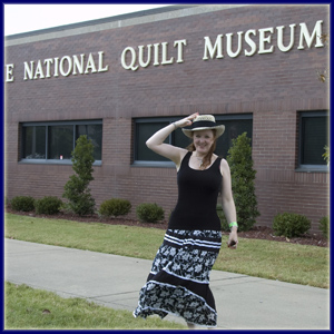 Christina Fairley Erickson at the National Quilt Museum