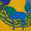 Equine art machine embroidery