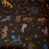 Custom Silkscreened Friesian horses and dressage
