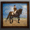 Friesian Dressage horse art quilt