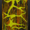 Hand Dyed Art Quilt Madronna tree bark