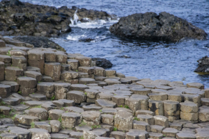 Basalt rock formations at the Giant's Causeway, Northern Ireland