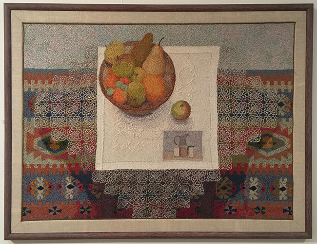 """""""Still-life"""" by Audrey Walker 1993 includes a tribute to Marandi, a master of still-life."""