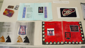 Some spreads from Christina's Native American Stitch Study