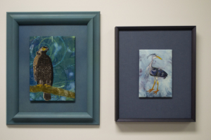 """""""Crested Serpent Eagle"""" and """"Cheeky Blue Heron"""" by Christina Fairley Erickson"""