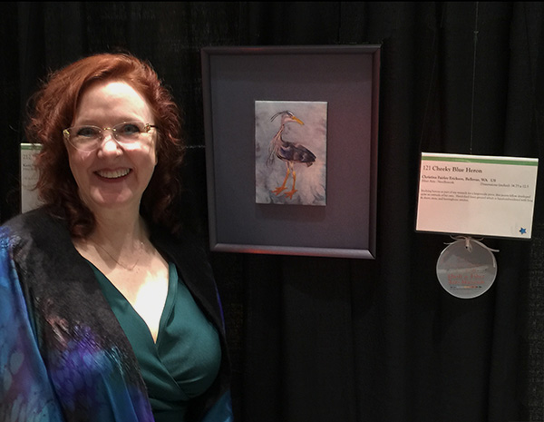 Christina Fairley Erickson with her 3rd place entry