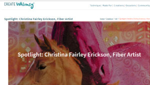 Spotlight on the Artist Interview with Christina Fairley Erickson on CreateWhimsy.com