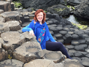 Christina Fairley Erickson at the Giant's Causeway