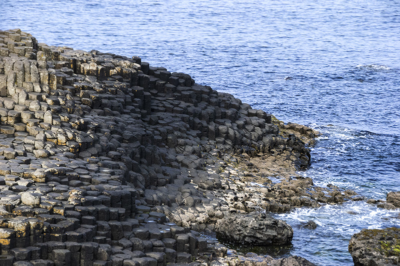 The Giant's Causeway steps into the Inner Sea between Northern Ireland and Scotland