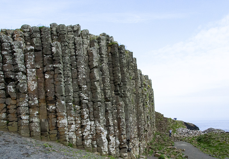 Towering columns of the Giant's Causeway