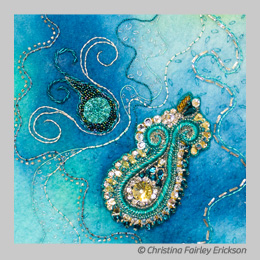 Turquoise Dance by Christina Fairley Erickson