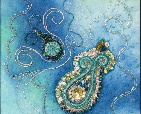 Turquoise Dance-detail- by Christina Fairley Erickson