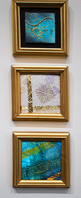 Christina Fairley Erickson's contemporary hand-stitched Goldwork embroidery
