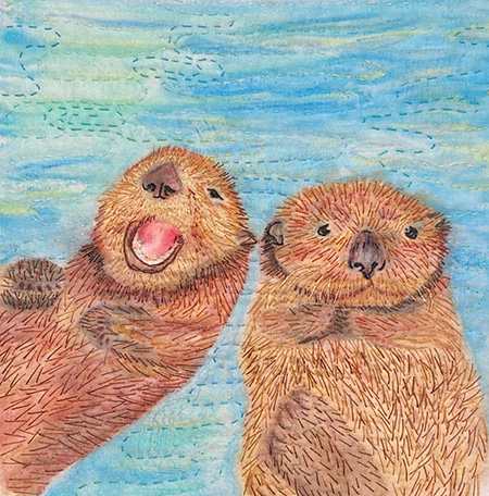 Alaska Wildlife- Otters by Christina Fairley Erickson